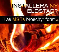 """MSBs broschyr om installationer och eldning """"Umgås framför brasan"""" »"""