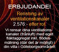 Erbjudande för din villa – Rensning av ventilationskanaler 2.576 kr efter rot »